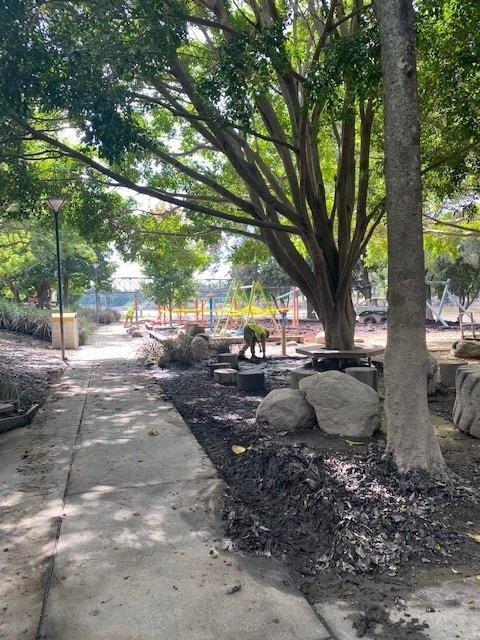 Flood clean-up at Riverside Park